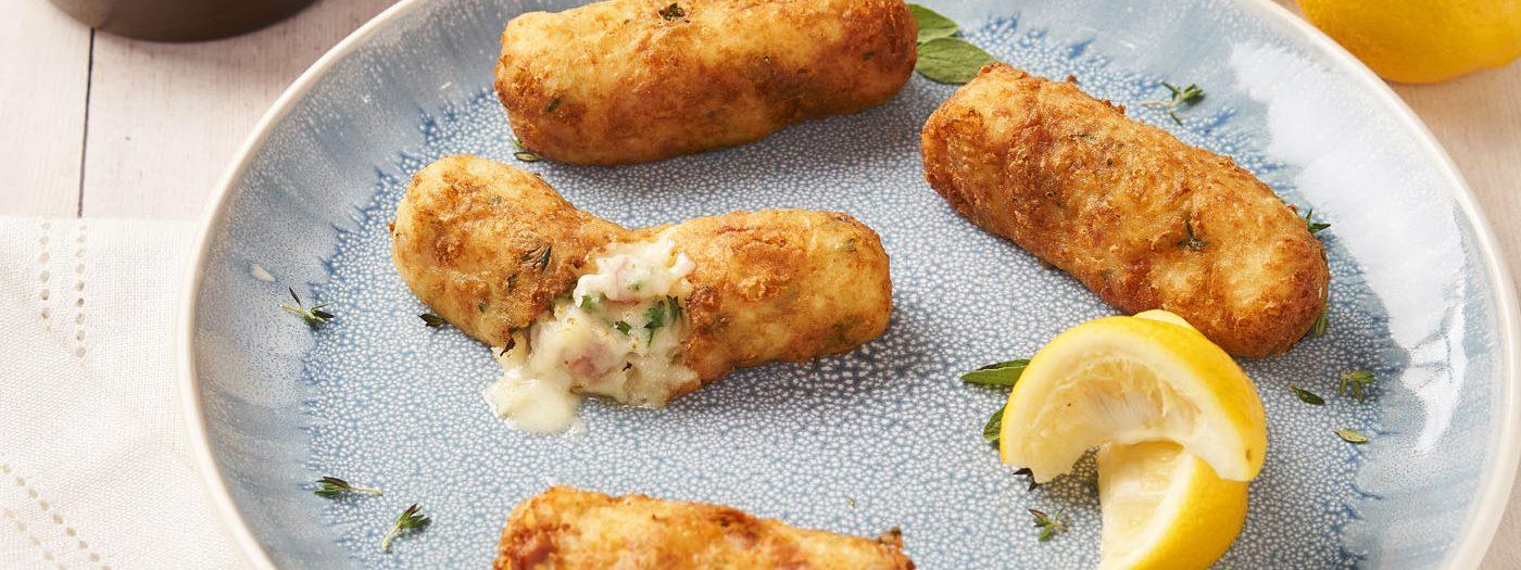 Mozzarella, Ham and Potato Croquette